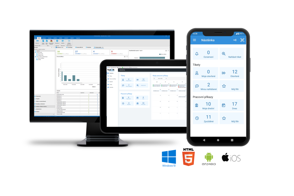 TechIS - Multiplatformní přístup / Uživatelské rozhraní