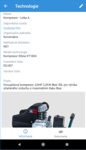 Mobilní klient - TechIS